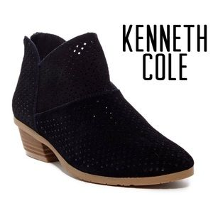 NEW Kenneth Cole Black Suede Ankle Bootie Size 8M